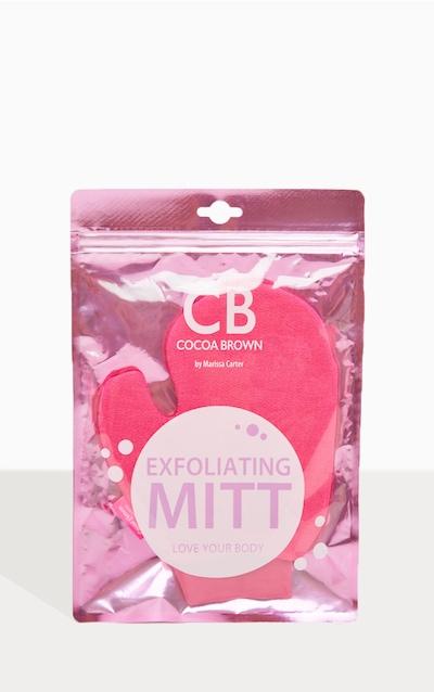 Cocoa Brown Exfoliating Thumb Mitt