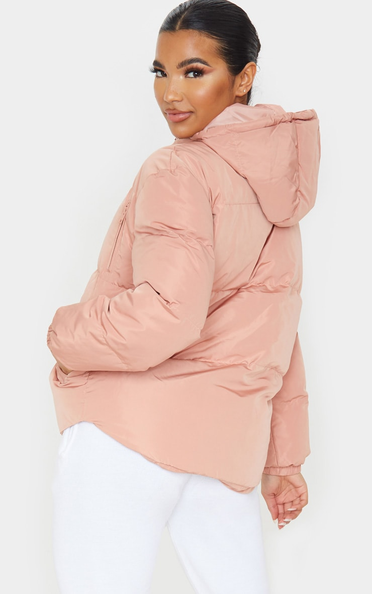 Rose Puffer Contrast Hooded Jacket 2