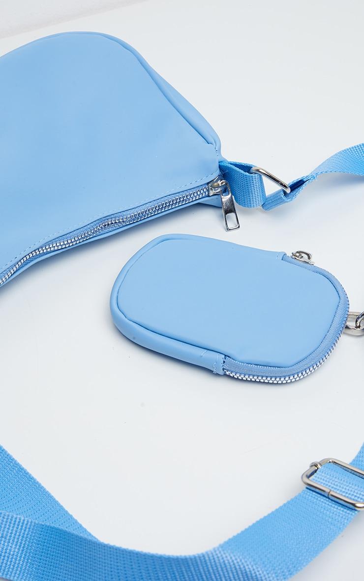 Baby Blue Multi Pocket Cross Body Bag 2