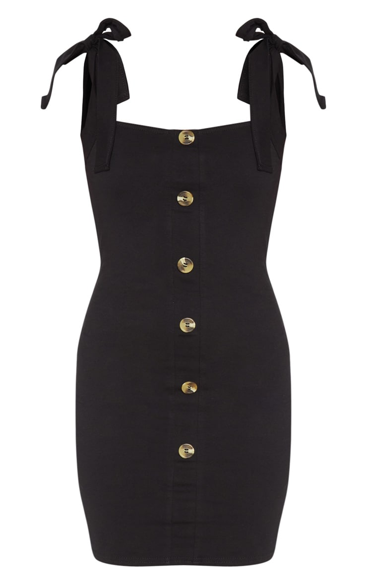 Petite Button Front Bodycon Dress 3