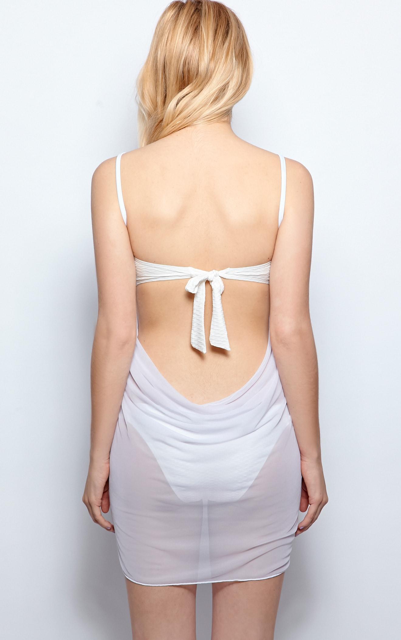 Raquel White Sheer Wrap Around Cover Up 3