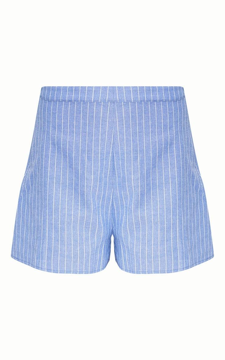 Blue Pinstripe Shorts 3