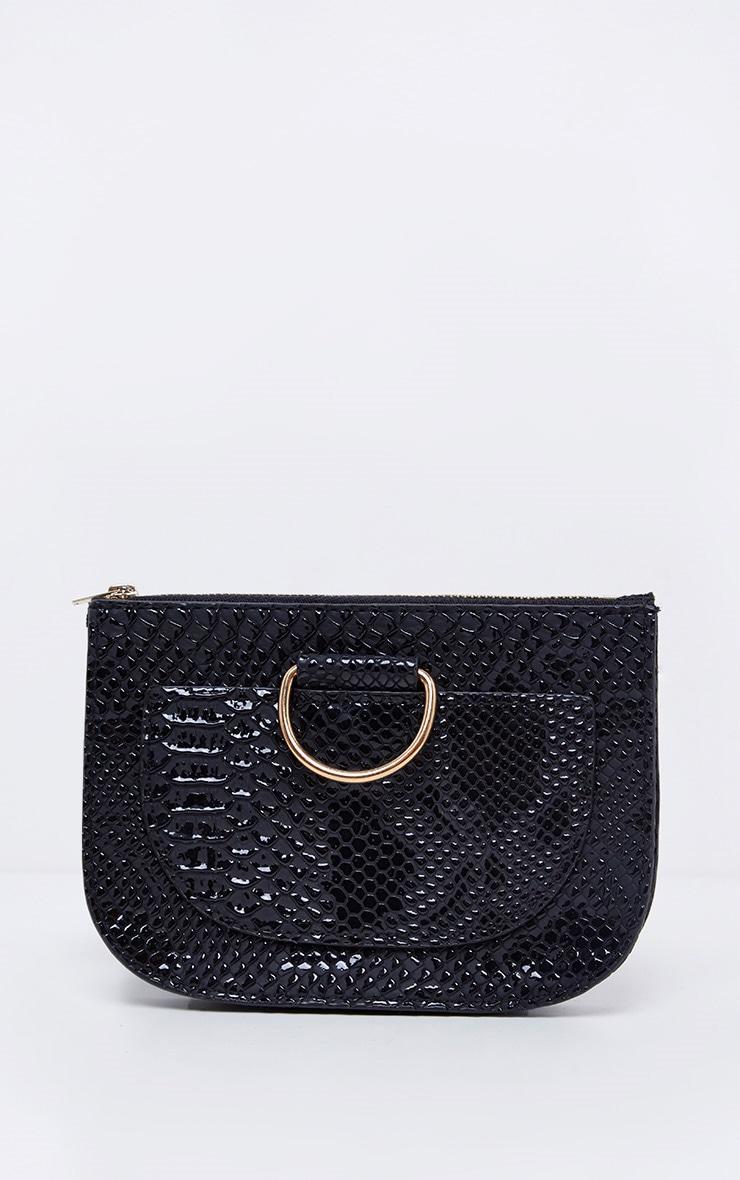 Black Croc Belt Bag 1