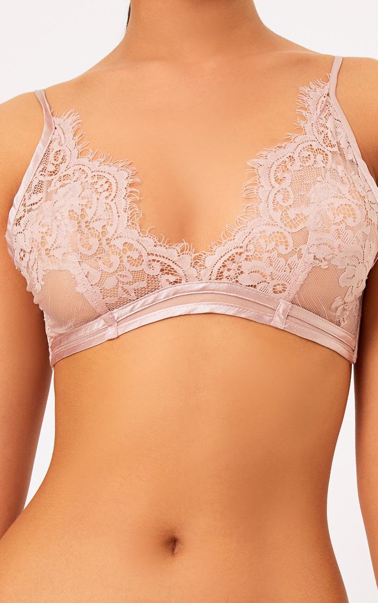 Wendy Blush Sheer Lace Soft Bra  5