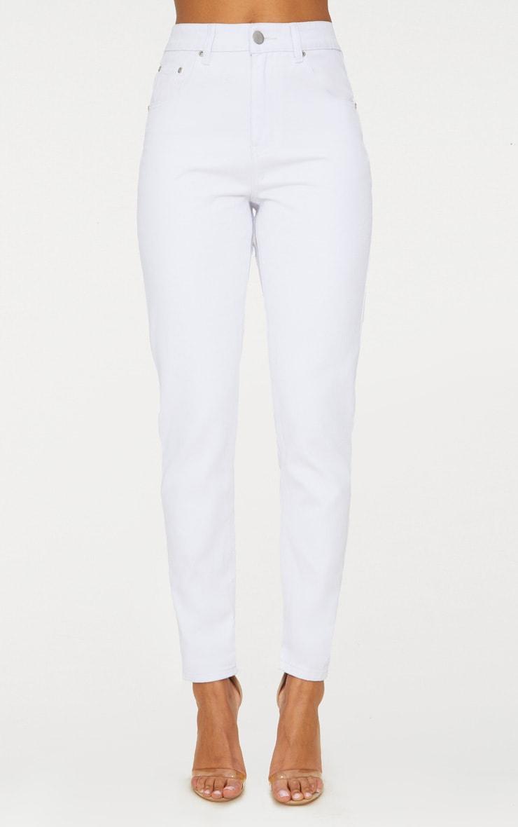 Mom White Jean 7