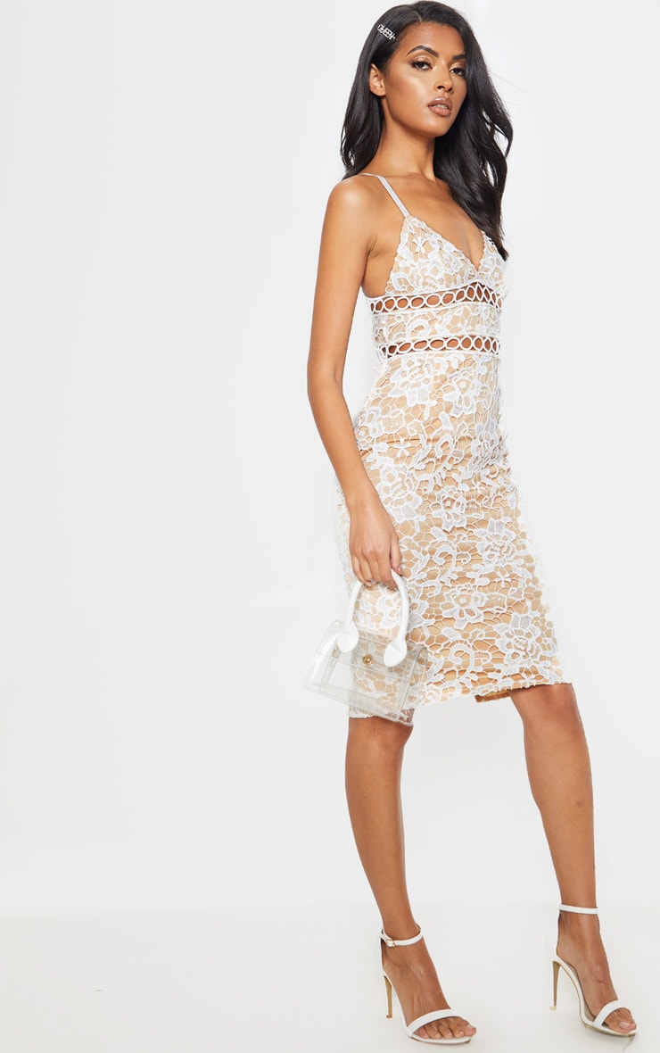 White Lace Cami Midi Dress 4