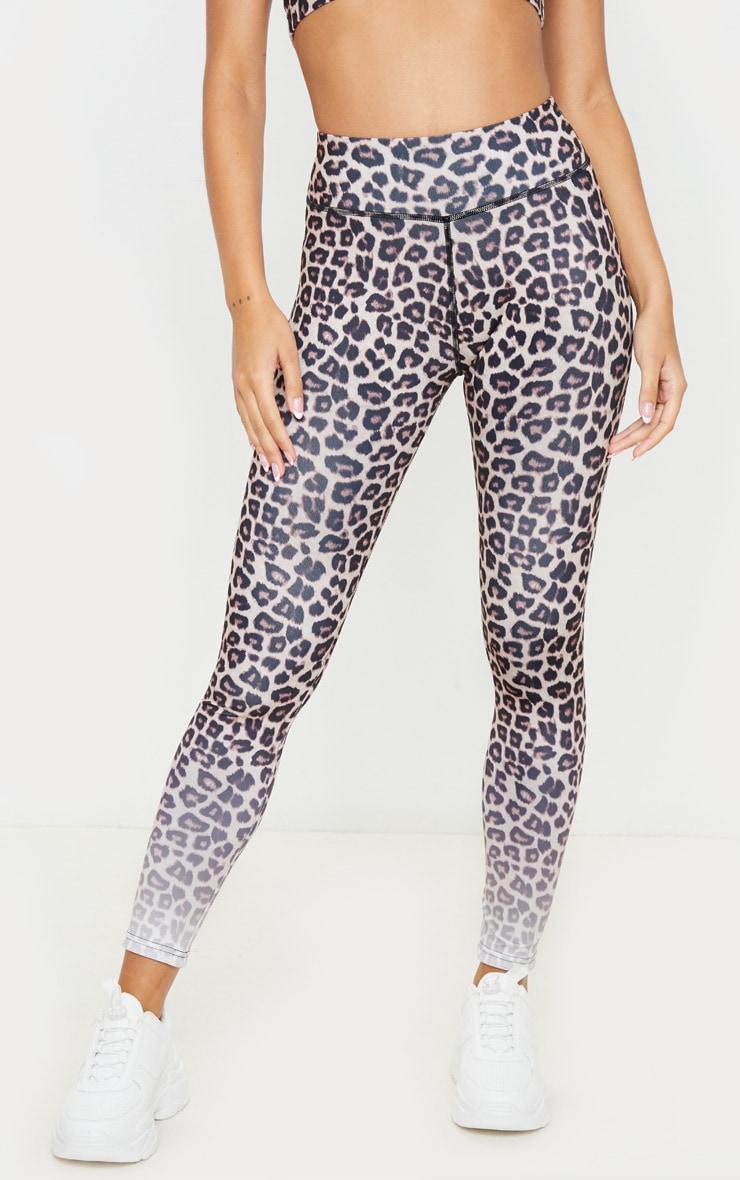 Leopard Ombre Print Leggings 2