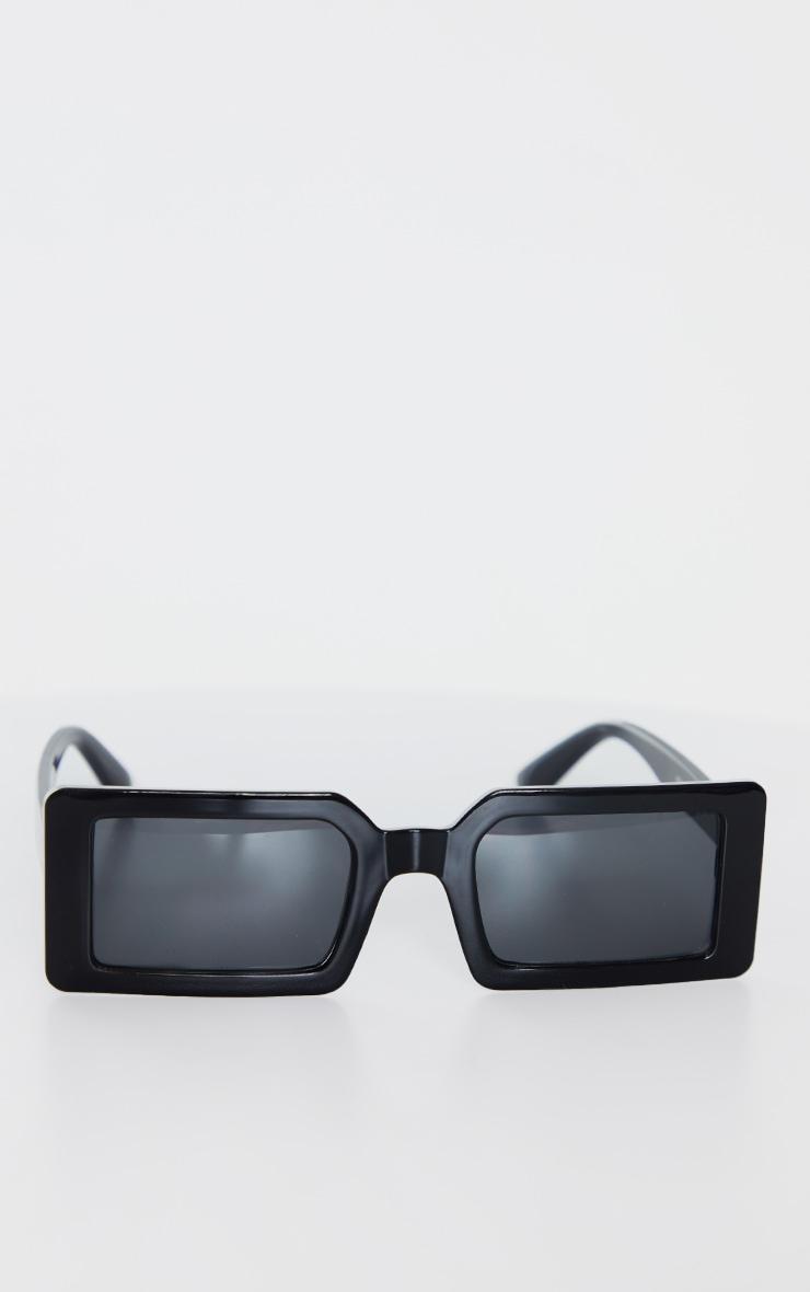 Black Squareframe Slimline Sunglasses 2