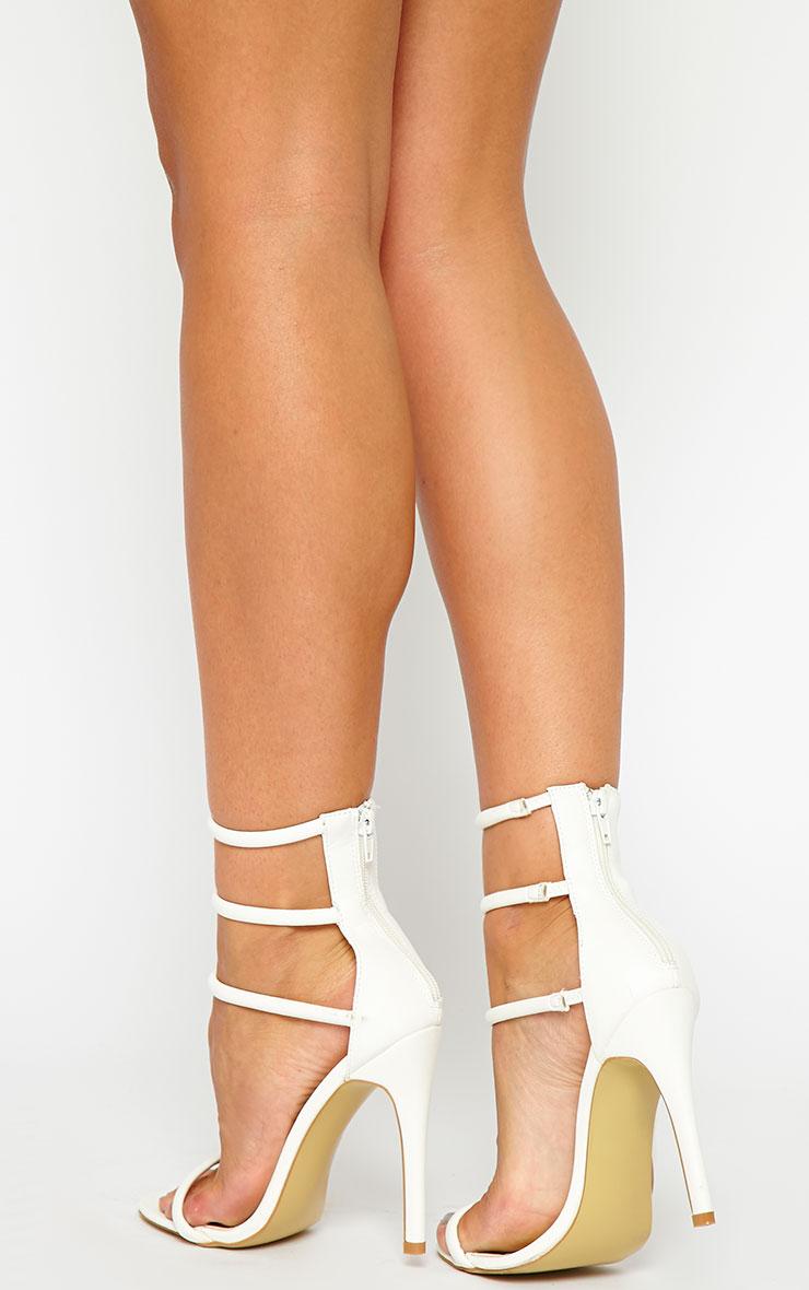 Nadine White Strappy Heeled Sandals 2