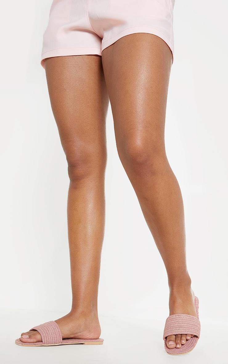 Pink Espadrille Mule Sandal 2