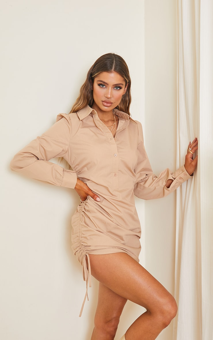 Stone Ruched Side Fitted Dress 1