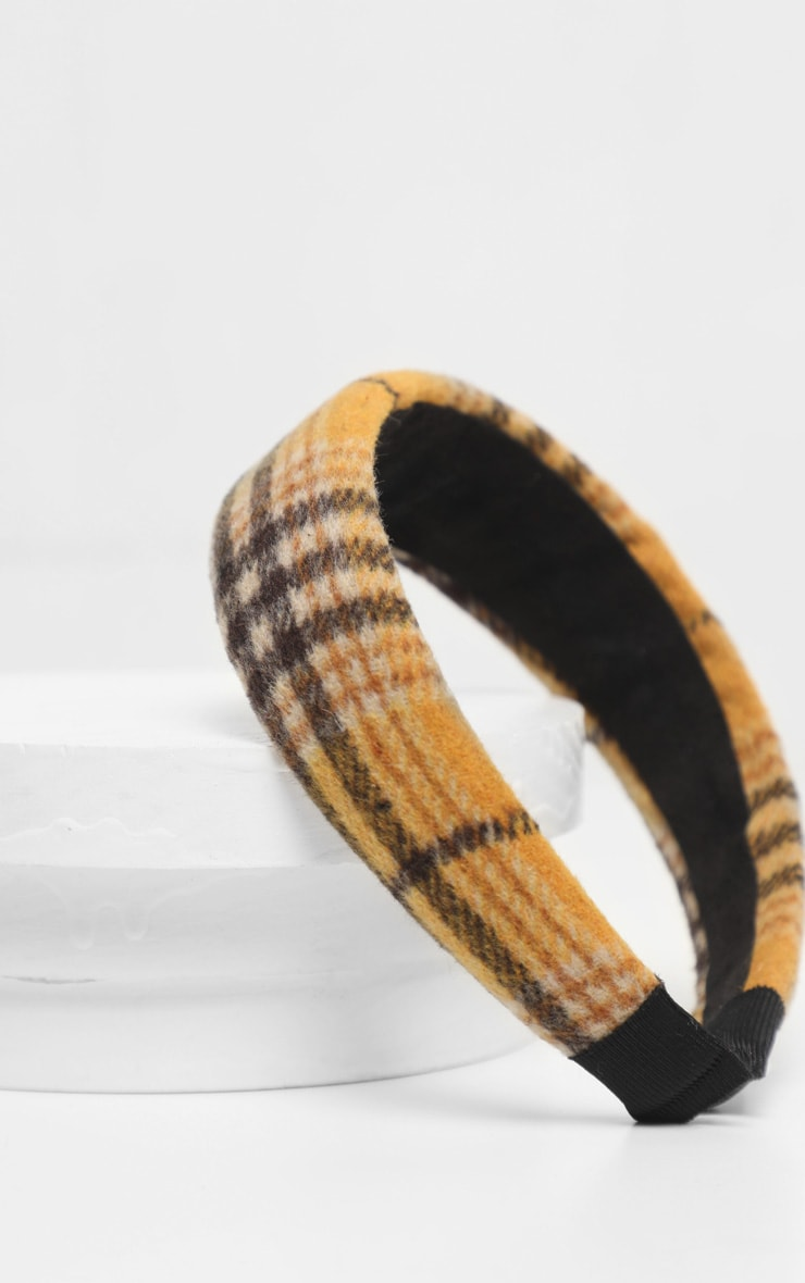 Brown Tartan Chunky Headband 3