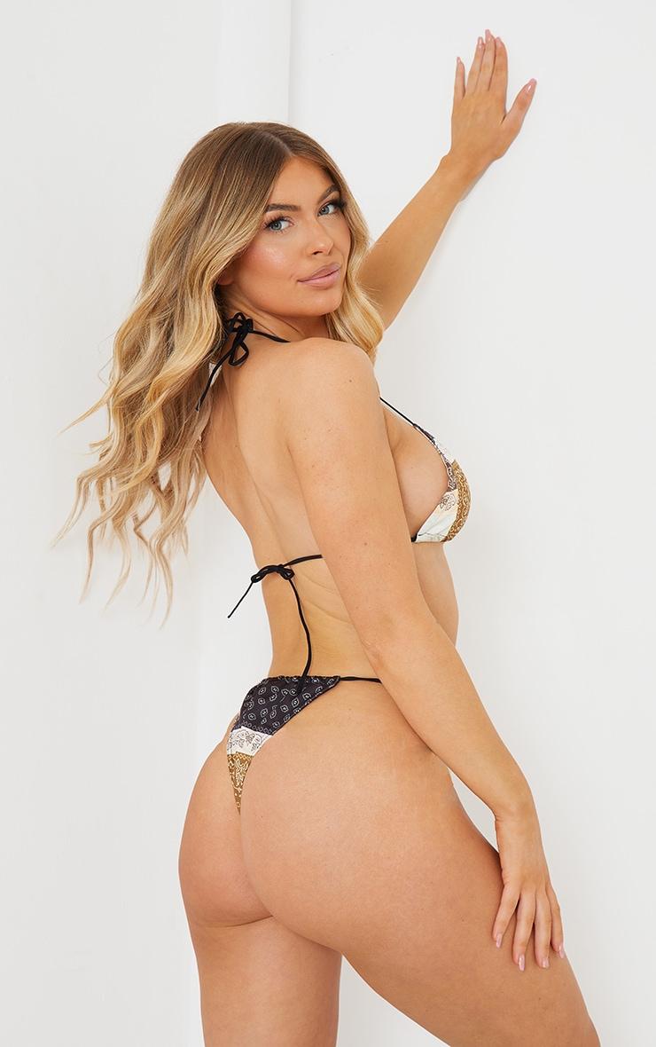 Brown Bandana Triangle Bikini Top 2