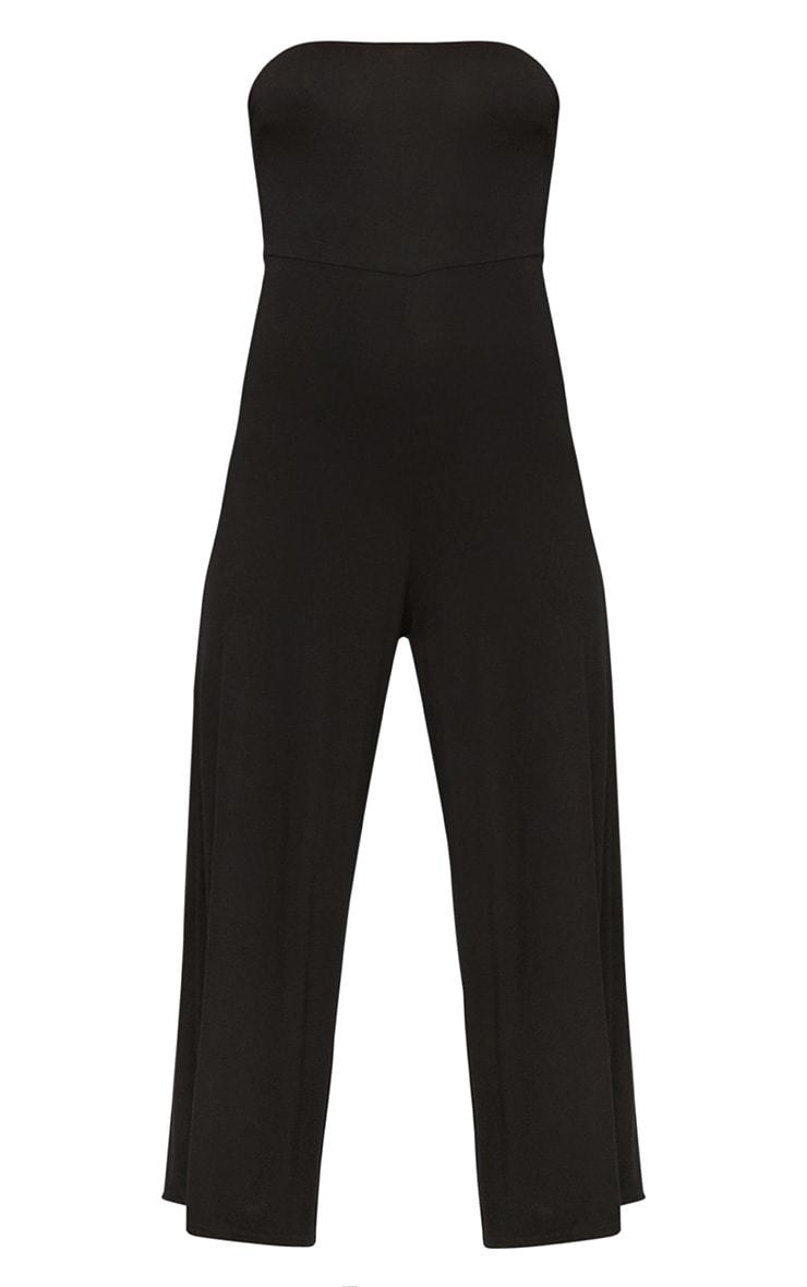 Black Culotte Bandeau Jumpsuit  3
