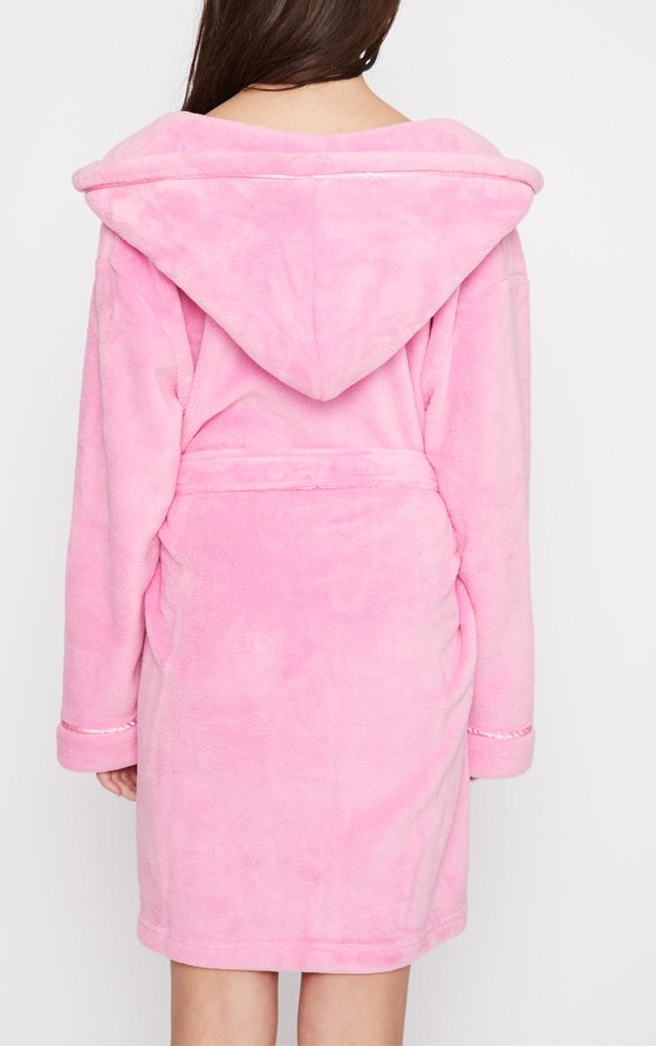 Erin Pink Fleece Dressing Gown  4