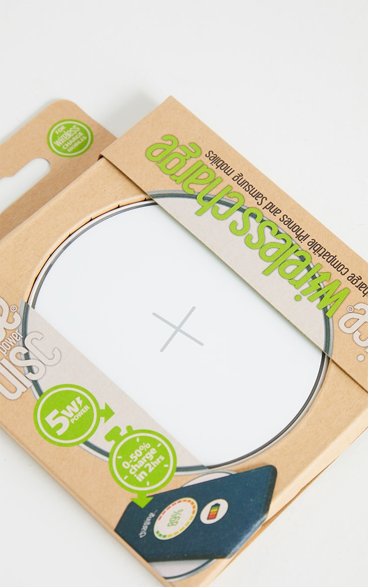 Juice White Wireless Charging Disc 5W 2