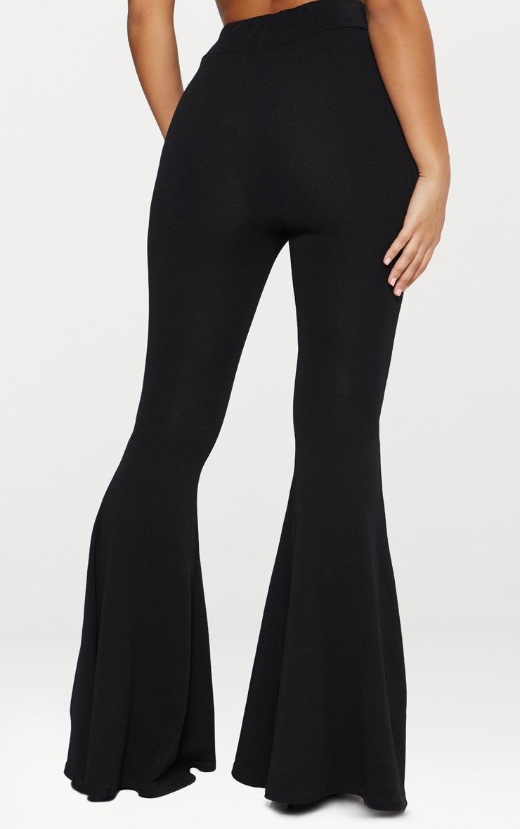 Pantalon flare noir extrême  3