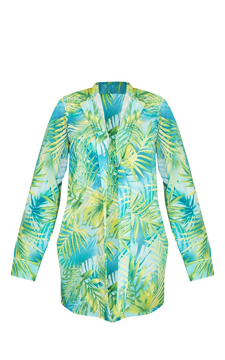 Green Tropical Beach Shirt 5