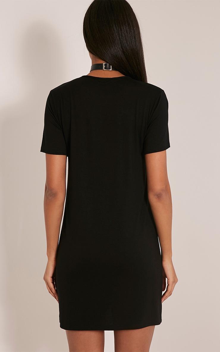 Ceelia Black T-Shirt Dress 2