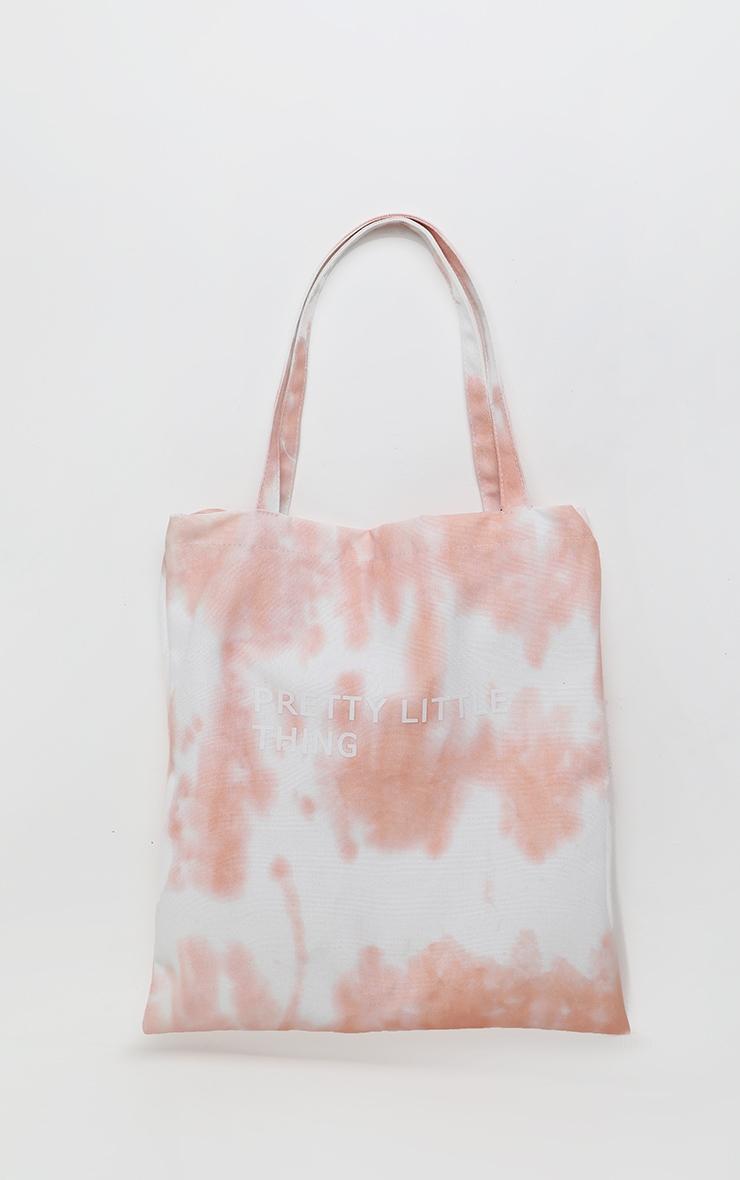 PRETTYLITTLETHING Pink Tie Dye Shopper Bag 1