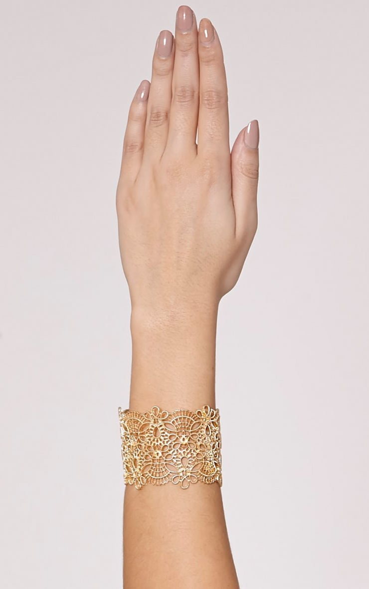 Tany Gold Cut Out Cuff 1