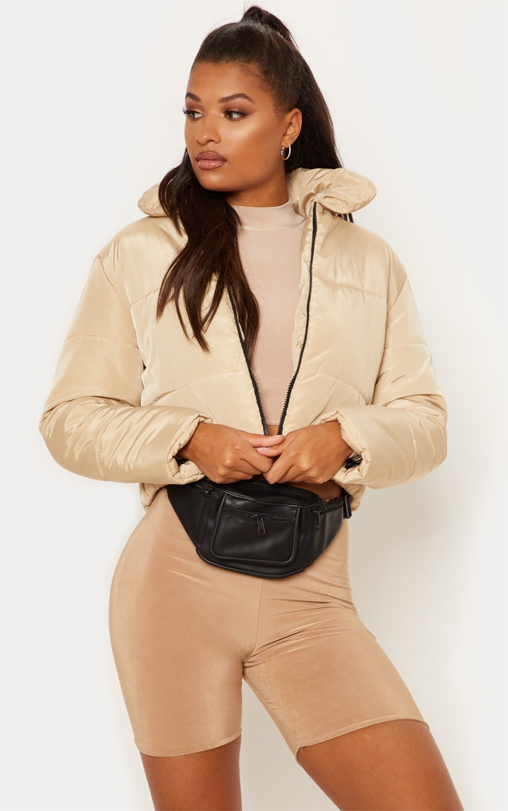 Stone Cropped Puffer Jacket 4