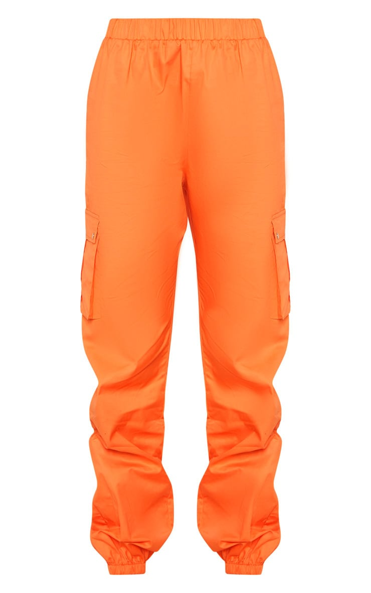 Tall - Pantalon cargo orange à détail poches 3