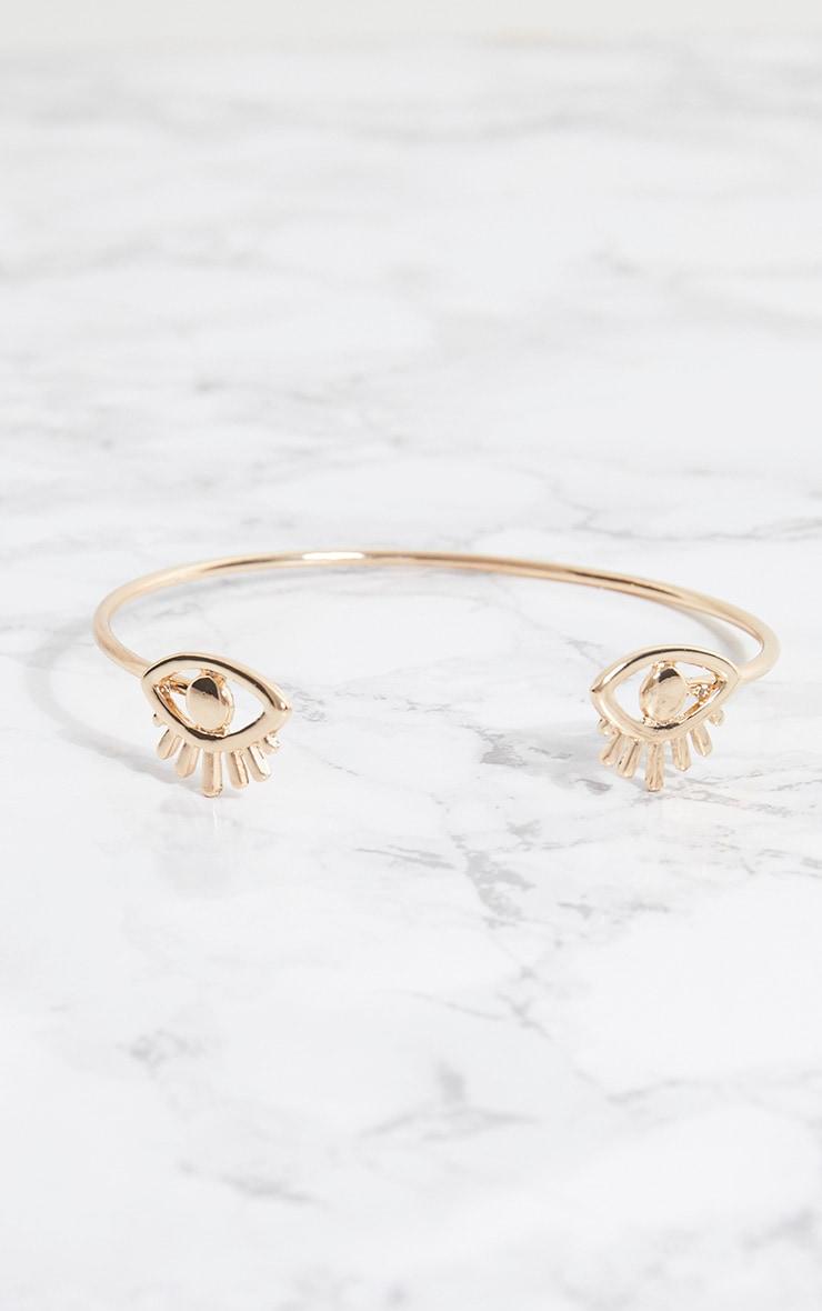 Gold Turkish Eye Arm Cuff 3
