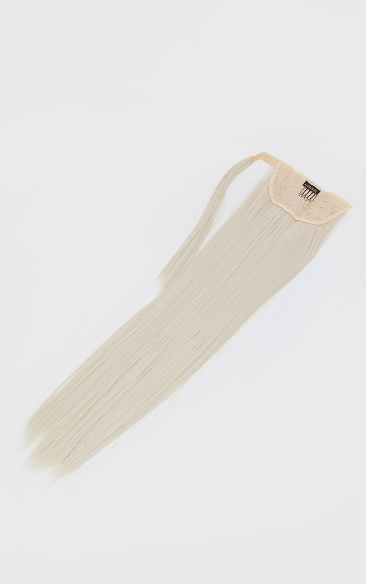 LullaBellz Grande Lengths 26 Straight Wraparound Pony Bleach Blonde 5