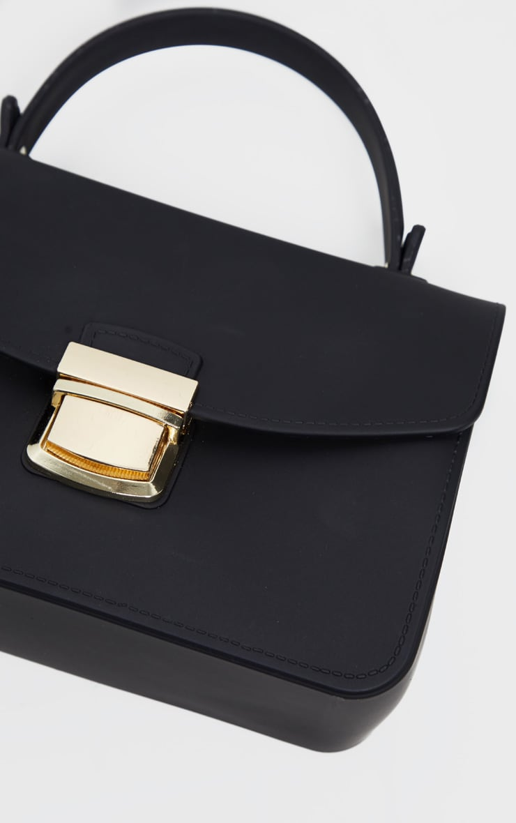 Black Matte Finish Mini Bag 4