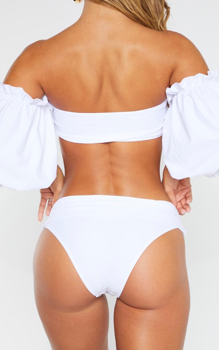 White Turn Over Bikini Bottom 3