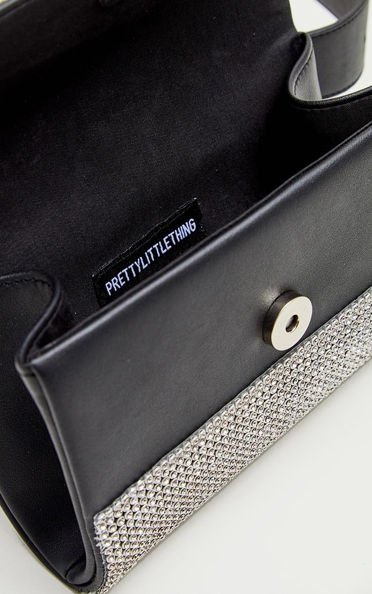 Black Diamante Belted Bum Bag 4