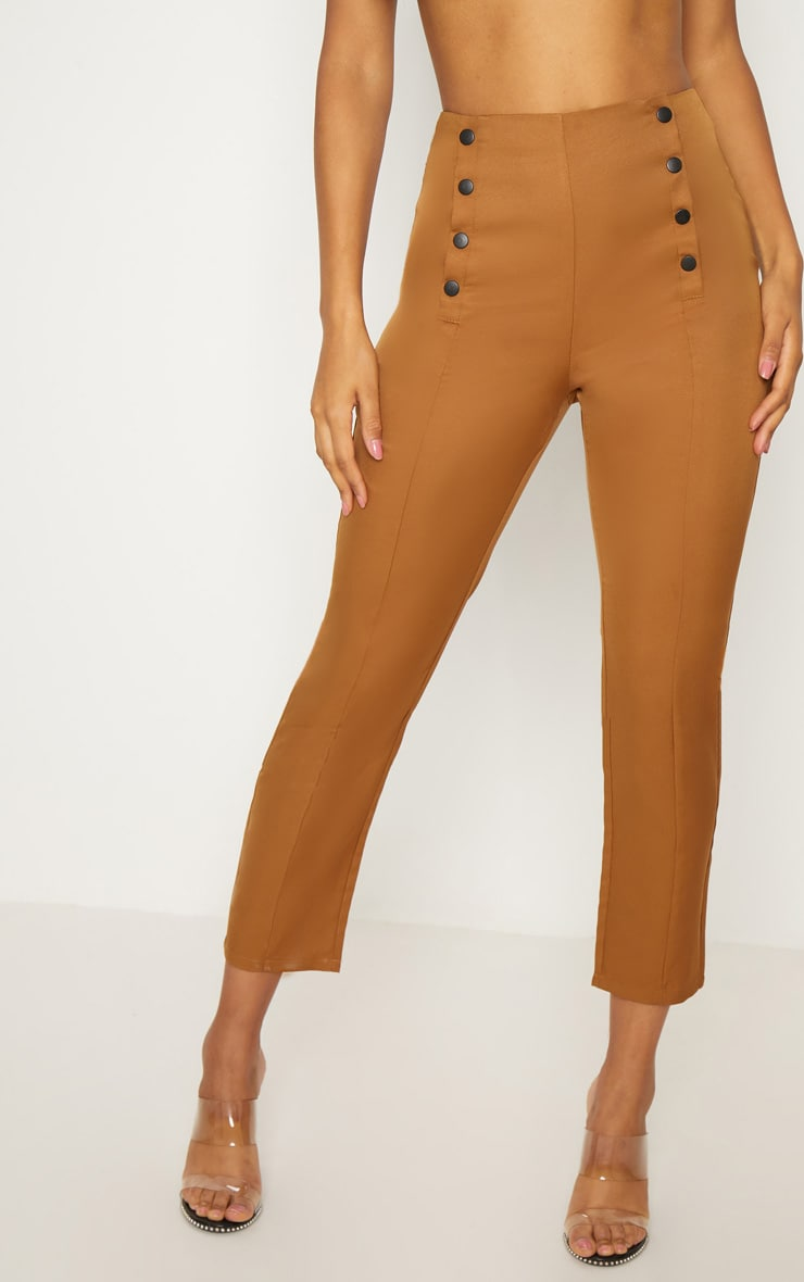 Tobacco Popper Seam Detail Skinny Pants 2