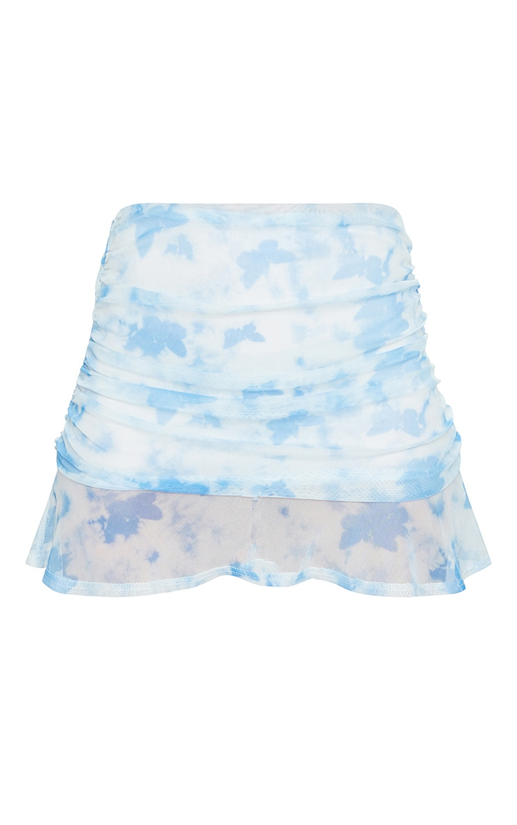 Baby Blue Butterfly Print Strappy Crop Top 5