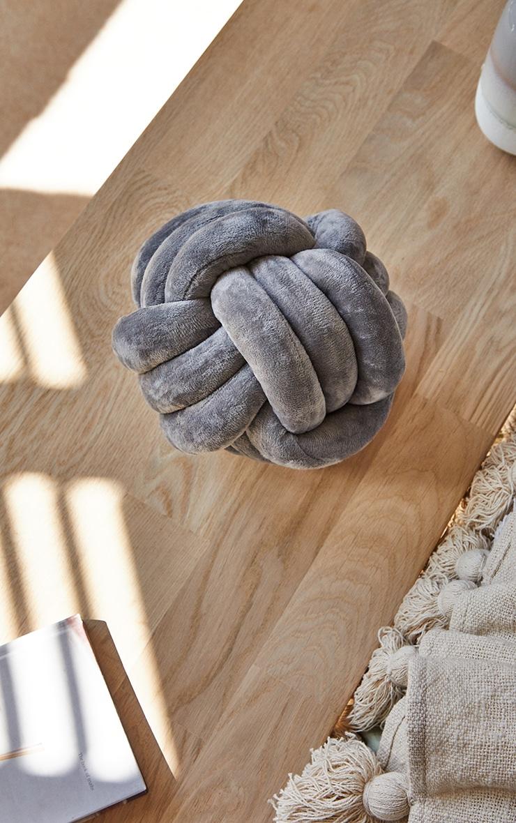 Grey Knot Cushion 2