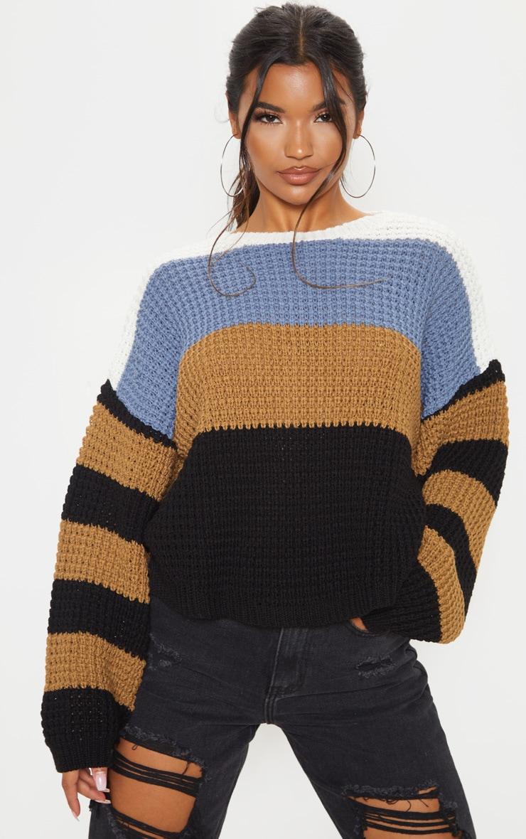 Multi Stripe Knitted Sweater 1