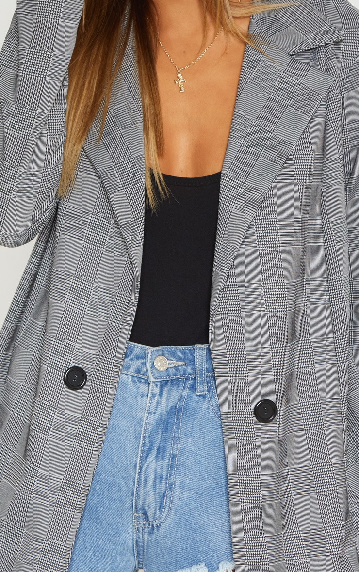 Grey Checked Blazer  5