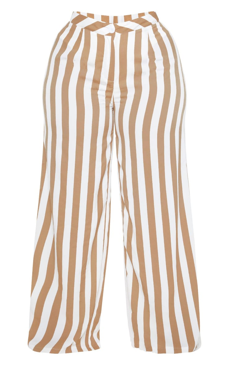 Plus Stone Striped Wide Leg Pants  3