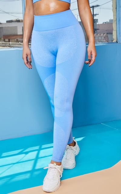 Blue Seamless 2 Tone Contour Legging