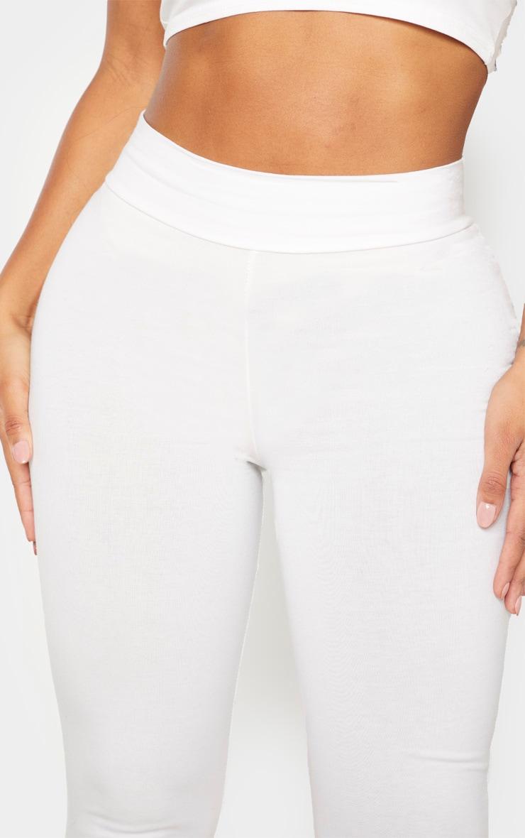Shape Cream Cotton High Waist Legging 5