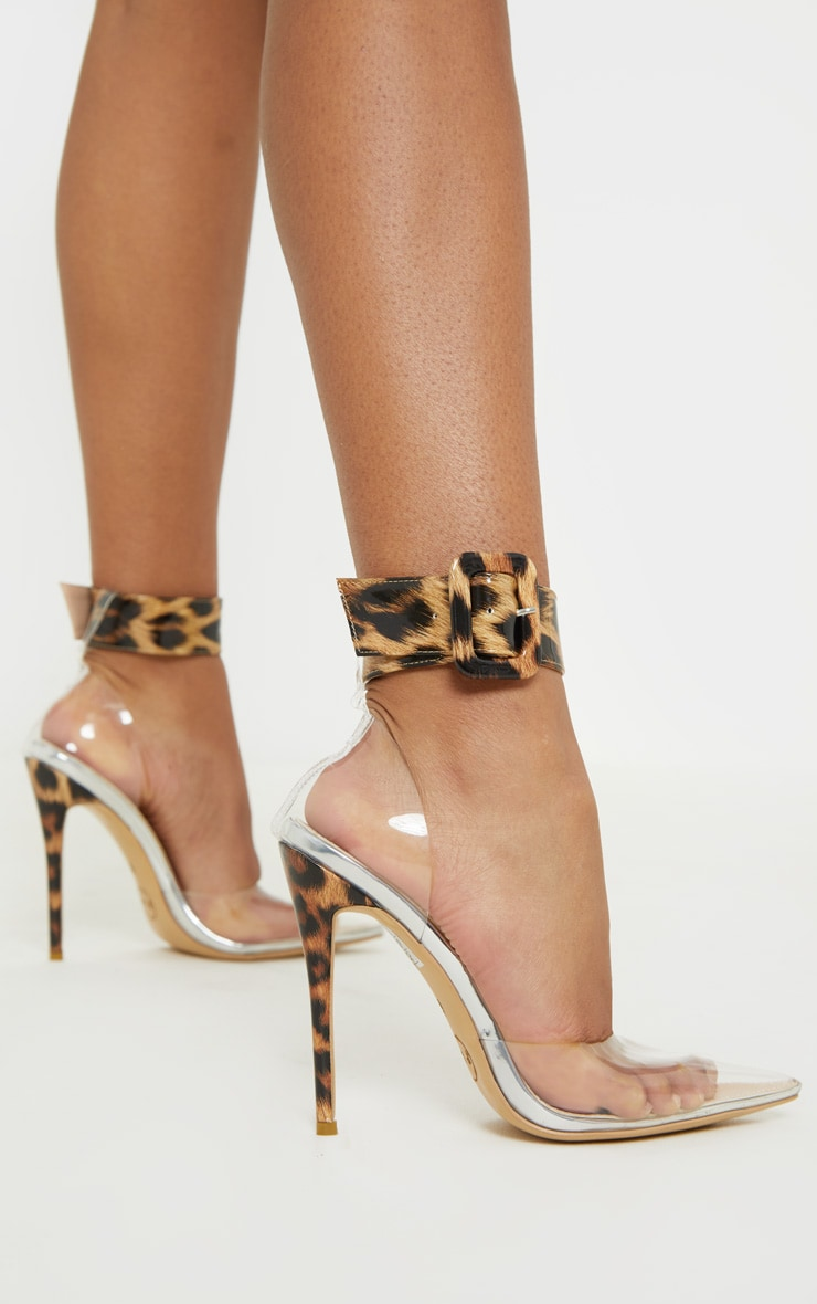 Leopard Cuff Detail Court Shoes 3
