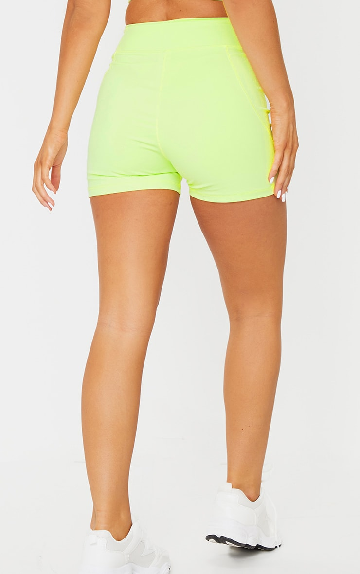 PRETTYLITTLETHING Lime Sport Sculpt Luxe Booty Short 3