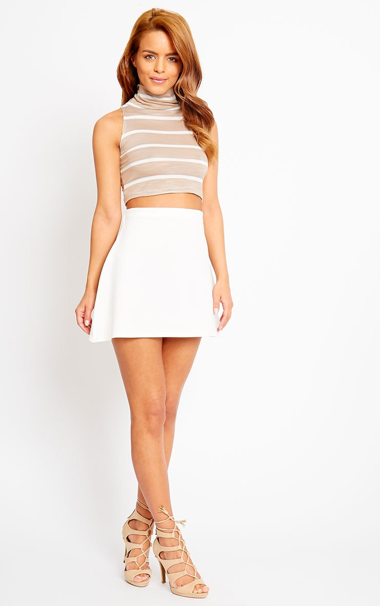 Sal Stone Turtle Neck Stripe Crop Top 3