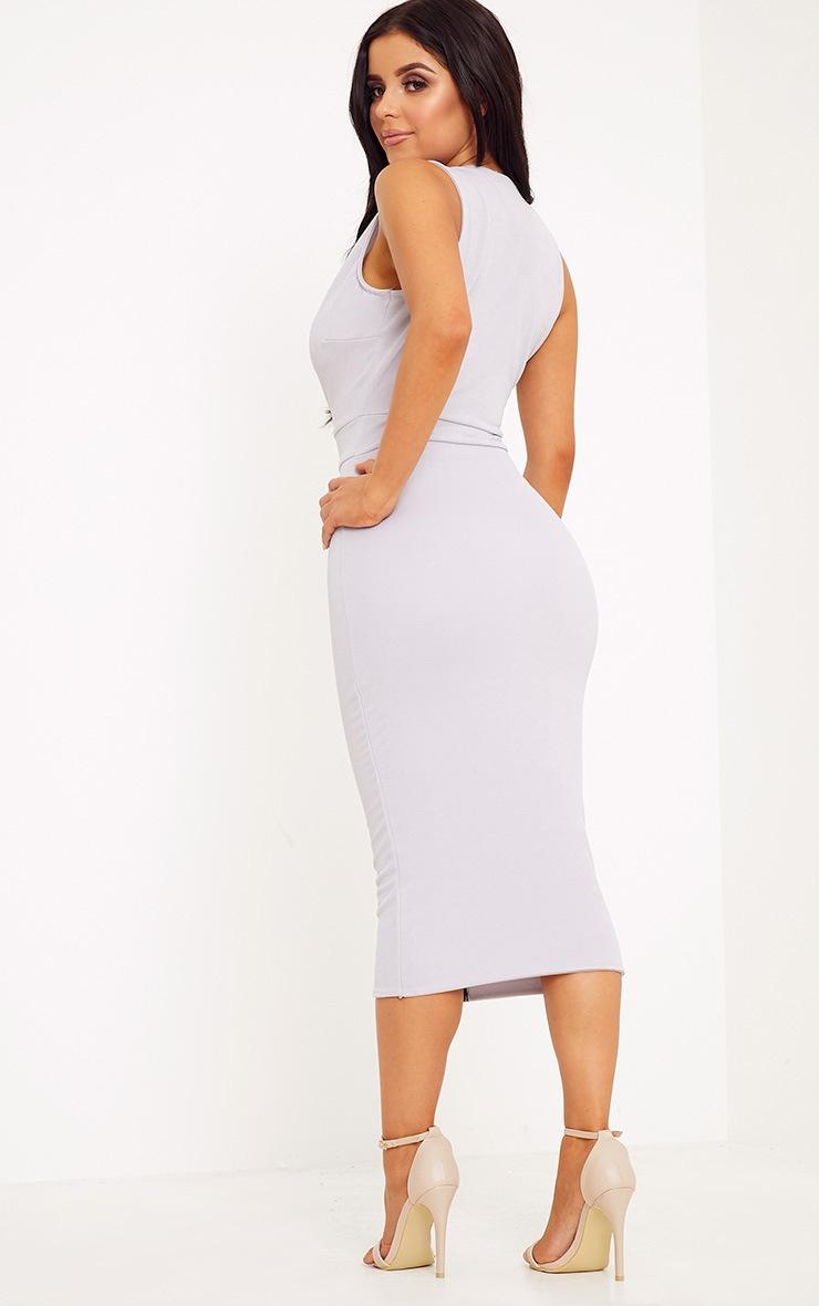 Shape O-Ring Zip Skirt Midi Dress 2
