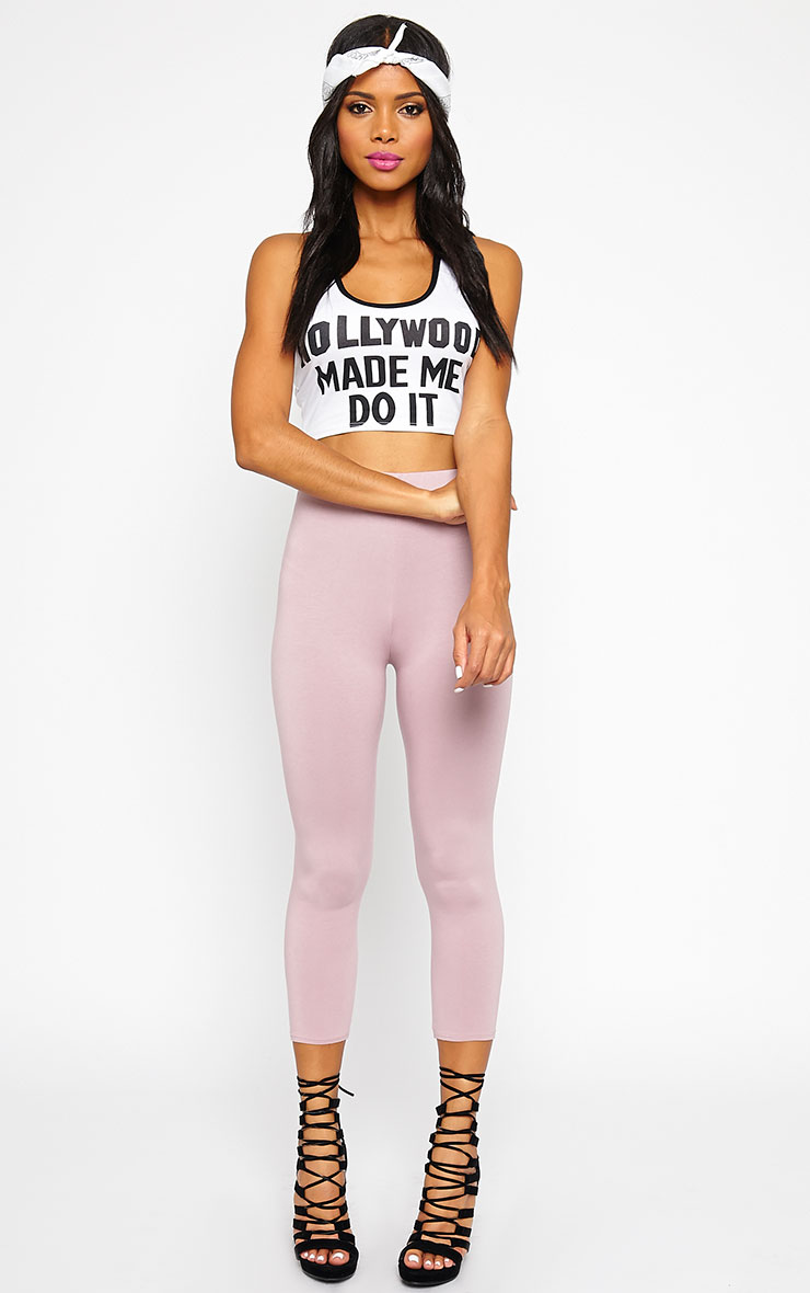 Aubree White Hollywood Crop Top 4