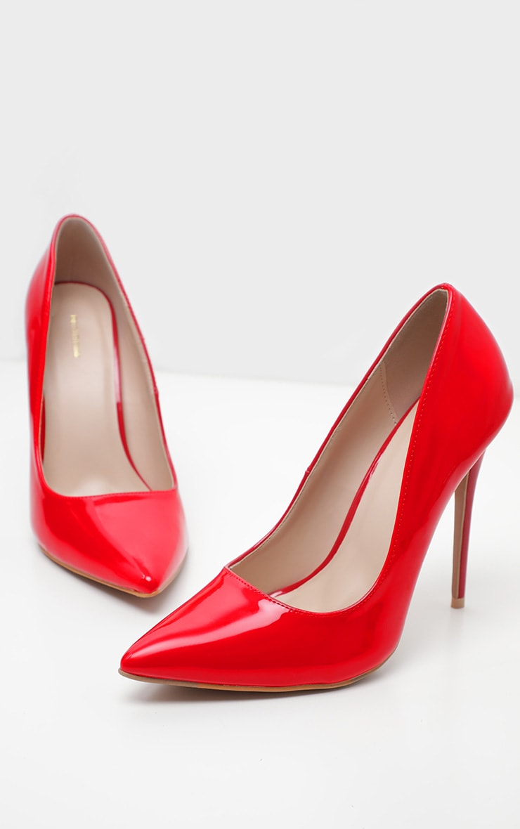 Red Wide Fit Court Shoes 3