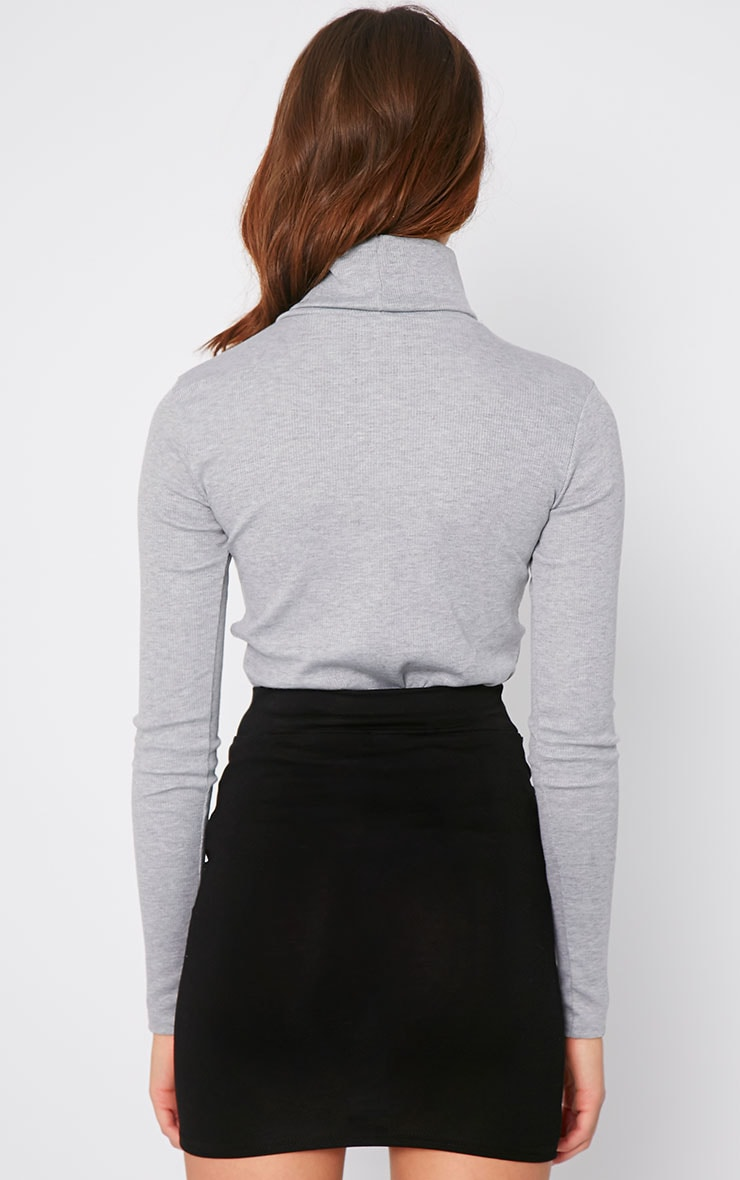 Hanneli Black Tie Front Mini Skirt 2