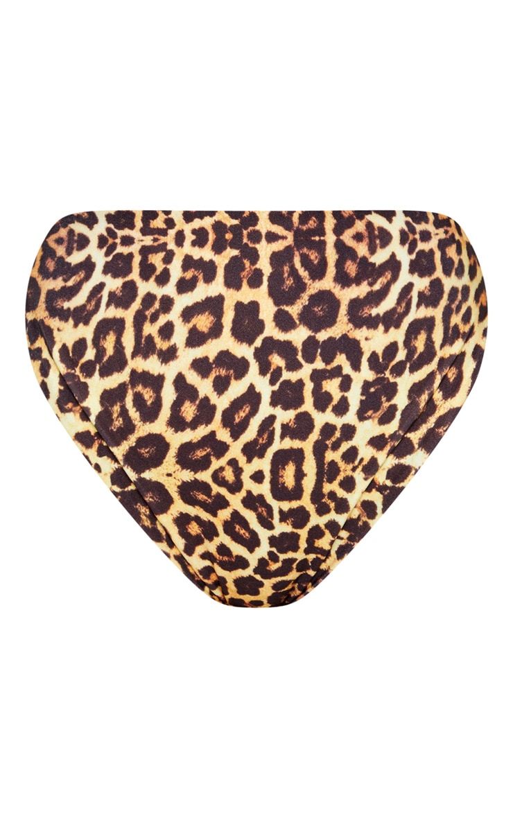 Leopard Mix & Match High Waisted High Leg Bikini Bottom 6