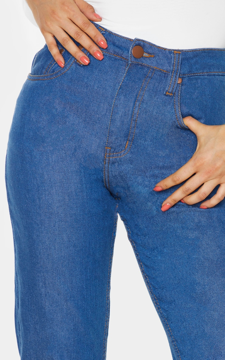 Tall Mid Wash Slim Mom Jean  4
