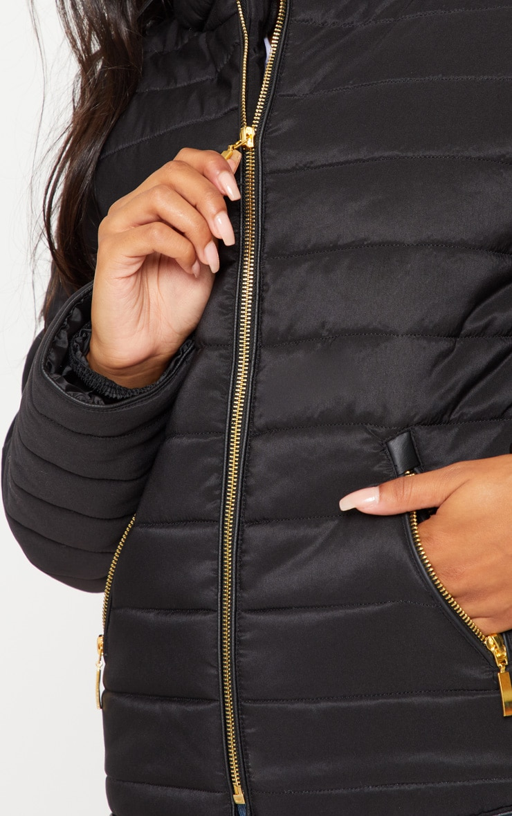 Mara Black Puffer Jacket 5